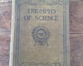 Journal, Triumphs of Science vintage repurposed Journal