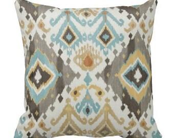 outdoor pillows for couch,ikat pillow,ikat pillow covers,ikat pillow covers, ikat pillows, ikat pillow teal,yellow blue grey ikat pillow