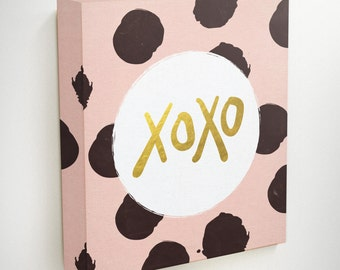 Xoxo, Xoxo Decor, Xoxo Banner, Love Canvas Art, Love Canvas,Friendship Canvas,Gifts For Friends, Hugs And Kisses, Love Gifts, Love Wall Art