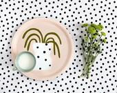 Tray - Polka dots vase - designed by Depeapa
