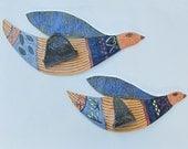 ceramic wall birds (set of 2); ceramic bird; ceramic art;home and living