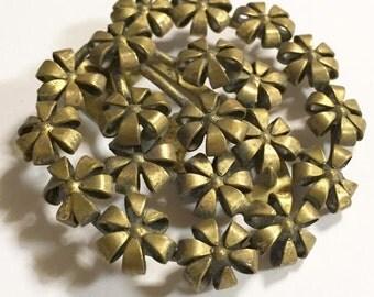 Vintage Sterling Silver Gold Vermeil Flower Fur Clip Signed Button Co NY