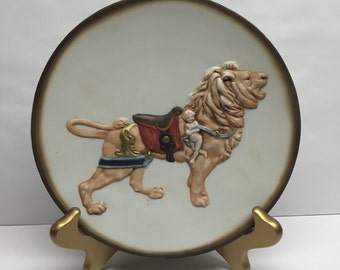 Spiegel Carousel Lion Collectable Plate Charlotte Dinger Collection 876 of 12,000