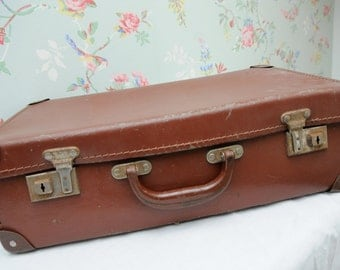 Small Vintage Travel Suitcase