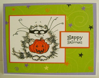 SALE - Kitty in Disguise Halloween note card