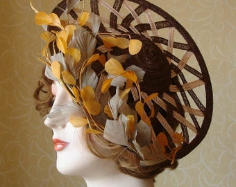 Gorgeous straw saucer hat