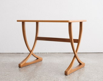 Mid Century Teak X Base Side Table 1/2