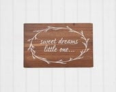 Nursery Decor, Sweet Dreams Little One, Girl Nursery, Boy Nursery, Rustic Nursery Decor, Gallery Wall, Wood