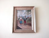 Framed Art, Antique Oil Painting, Old Paintings, 1893 Oil on Panel by Paul Léon Jazet (French, 1848–1918)