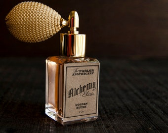 Alchemy Elixir - Golden Blush - Amber Vanilla Sandalwood Berry Floral Musk   - Atomizer Bottle -1 oz
