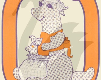 "Reproduction 23"" Kang-A-Rang & 7"" Boom-A-Roo Toy Kangaroo Sewing Pattern"