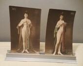 "Vintage Postcards Risque Posed Women ""Postkarte Carte Postale"""