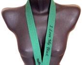 I Love My Black Embroidered Unisex Lanyard | Green Lanyard | Fabric Lanyard | Work Badge Swivel-hook Lanyard by Hamlet Pericles