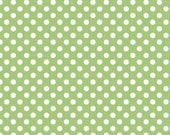Polka Dot Fabric by the yard Riley Blake Small Dot in Green