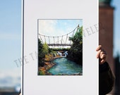 Day in the Park | Falls Park on the Reedy | Greenville, South Carolina Painting | Giclee Art Print