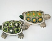 Early Artesania Rinconada Pottery #69 Baby Turtle Figurine CHOICE - Mid Century Modern Artist Signed Animal Sculpture Uruguay