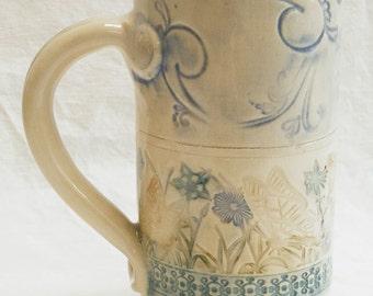 Stoneware 20oz. artisan butterfly ceramic mug 20B092
