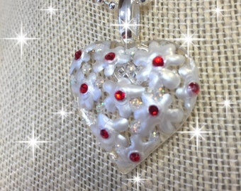 Romantic Puffy Heart Pendant