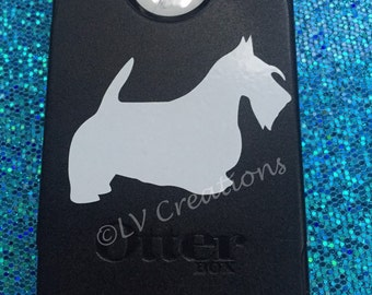 Scottish Terrier Dog Decal for phone, car, and more