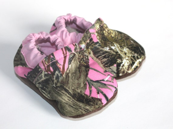 items similar to pink camo baby shoe pink baby