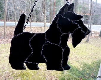 Stained Glass Scottish Terrier