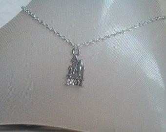 Castle Anklet, Fairy Tales, Cinderella, Prince Charming, Fairy Tale Jewelry, Snow White, Frozen, Shrek, Silver Castle, Princess