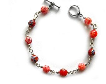 Red Millefiori Bracelet