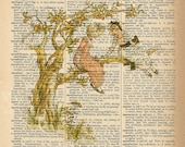 Dictionary Art Print - Children Climbing a Tree - Upcycled Vintage Dictionary Page Poster Print - Size 8x10