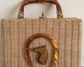 Rockabilly wicker horse head handbag HOLD FOR KELLY
