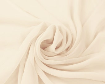 Hi Multi Chiffon Fabric by the yard - Ivory (273)