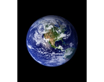 Earth - Nasa - Available Sizes (8x10) (11x14) (16x20)
