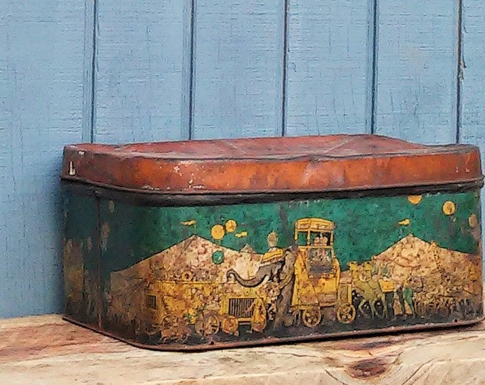 Vintage Circus Tin - Supreme Biscuit Tin - The Great Animal Show tin