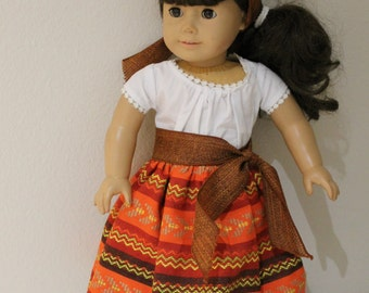 Pretty camisa and skirt set perfect for Josefina or any 18 inch doll.