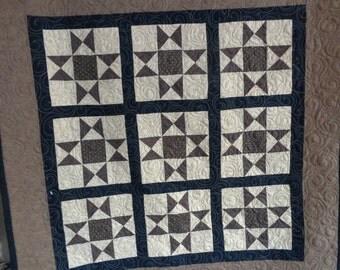 Ohio Star Quilt, Star Quilt, Fall Wall Art Quilt 0209-01