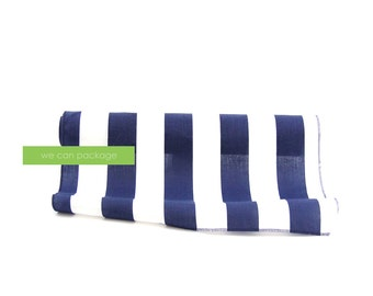 """Navy and White Striped Table Runner 18"""" x 108"""" Cotton"""