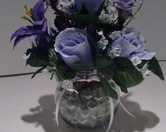 Small Floral Arrangement Purple