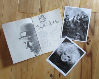 Vntg Phyllis Diller Loves You Biography with AUTOGRAPHED portraits