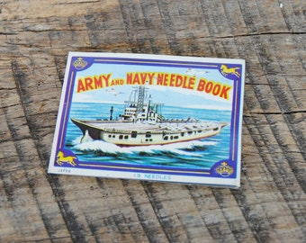 Vintage Army and Navy Needle Book Missing Needles