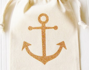 Anchor Party Favor Gift Bag, Wedding, Birthday, Anniversary, Graduation, Bachelorette, Bridal Shower, Party Favors and Gift bags, Gift Wrap