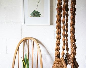 Vintage Macrame Hanging Plant Holder, Boho, Extra Large