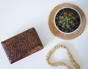 Carved Wooden Box | Jewelry Storage | Photo Storage