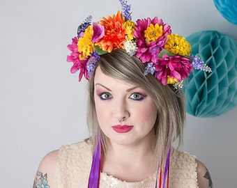 Summer Blooms Meadow Floral Headband