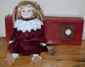Vintage Dynasty Doll Collection Doll Vintage 13 Inch Dynasty Porcelain Doll Vintage Collectible Doll from The Eclectic Interior