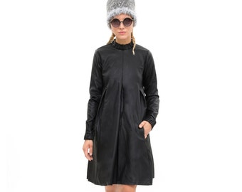 Black Dress, Modern and Classic Oversized Fashion Dress for Winter, Long Sleeve Loose and  Relxed Fit Boho Dress