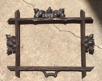 Antique Black Forest Frame