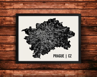 Prague Map Art Print | Prague Print | Prague Art Print | Prague Poster | Prague Gift | Wall Art