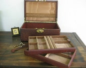 Antique leather jewelry box ~ exhausted from the Grand Tour
