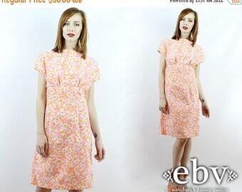 Vintage Sundress Summer Dress Floral Dress Pink Dress Vintage 70s Flower Power Mini Dress S M