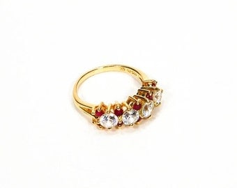 Vintage Canary Yellow Diamonite Trillion Size By