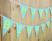 Happy Birthday Banner- birthday party decor, party decoration PICK YOUR COLORS
